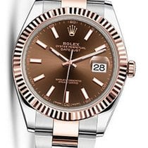 Rolex OYSTER PERPETUAL DATEJUST Chocolate DIAL 41MM 126331 NEW