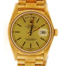 Rolex Day Date President Bark Finish 18K Yellow Gold