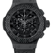 Hublot : 44mm Big Bang Aero Bang Sugar Skull Ceramic Carbon Watch