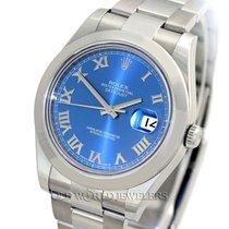 Rolex Datejust II 116300 Azzurro Blue Dial Steel