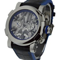 Romain Jerome Titanic DNA Steampunk Chrono Blue in Polished Steel