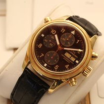 IWC doppelchronograph rattrapante yellow gold box papers oro