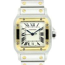 Cartier New Cartier Mens Santos Galbee 18k Yellow Gold &...