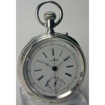 浪琴 (Longines) , Zangenchronograph, offene Silber Taschenuhr...