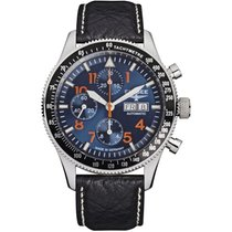 Elysee Herrenuhr Chronograph Executive I 80530blue