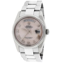 Rolex President Day-Date White Gold Ivory MOP Roman Dial 118239
