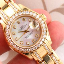 Rolex 69298 18k Yellow Gold Masterpiece Pearlmaster Factory...