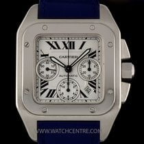 Cartier Stainless Steel Silver Dial Large Santos 100 Chrono...