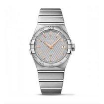 Omega Constellation Steel Grey Dial 123.10.38.21.06.002 Mens...