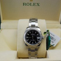Rolex DateJust  Stainless Steel Fluted Bezel Black Dial-178274