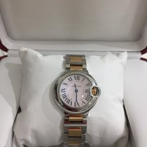 Cartier Ballon Bleu 28mm Steel and Rose Gold Pink M.O.P
