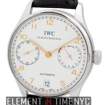 IWC Portuguese Collection Automatic 7-Day Power Reserve Silver...