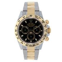 Rolex DAYTONA Steel & 18K Yellow Gold Watch Black Dial