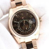 Rolex Rose Gold Skydweller Chocolate Arabic Dial On Bracelet...