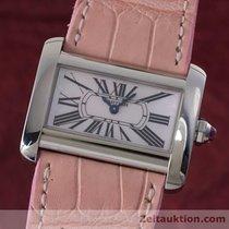 Cartier Lady Tank Divan Edelstahl Ref. 2599 Damenuhr