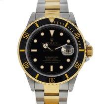 Rolex 16613 Submariner 18K Yellow Gold & Stainless Steel...