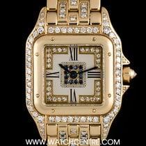 Cartier 18k Yellow Gold Diamond & Sapphire Set Panthere...
