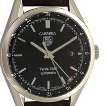 TAG Heuer Carrera Twin Time Stahl Automatik 39mm