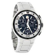 Movado Series 800 Mens Black Dial Swiss Quartz Chrono Watch...
