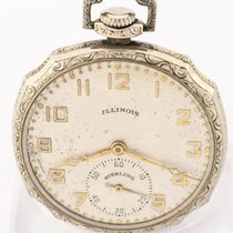 "Elgin Illinois Elgin Sterling"" tail-coat watch / pocket..."
