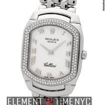 Rolex Cellini Cellissima 18k White Gold Diamond Bezel