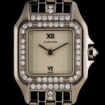 Cartier 18k W/Gold Rare Diamond & Enamel Set Art Deco...
