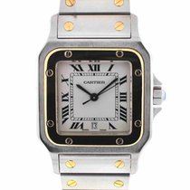 Cartier Santos Two Tone Gold Mens Watch 1566