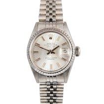Rolex Vintage Datejust Ladies in White Gold on Jubilee, Ref: 6517