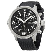 IWC Aquatimer Chronograph Black Dial Black Rubber Men's Watch