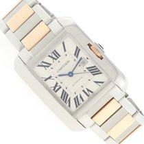 Cartier Tank Anglaise Medium Pink Gold/Steel Watch W5310037