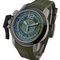 Graham Chronofighter Oversize Target Green in Steel with...