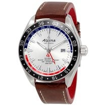 Alpina Alpiner 4 GMT Silver Sunray Dial Automatic Men's Watch