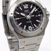 IWC Ingenieur IW324402 Dual Time Black Dial Stainless Steel...