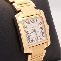 Cartier Tank Francaise Large Automatic 18k Yellow Gold W50001r2