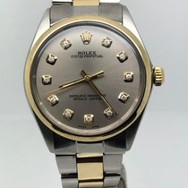 Rolex OYSTER 34MM AUTO STEEL/GOLD WHITE ROMAN DIAL VINTAGE
