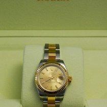 Rolex Ladies DateJust TuTone 18kt Yellow Gold Champagne...
