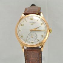 Longines Vintage 1950s 18k Gold Dress Watch 6055
