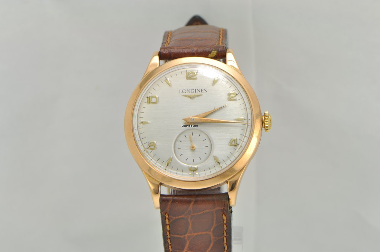 longines pink gold watches buy at best prices on chrono24 longines vintage 1950s 18k gold dress watch 6055
