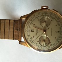 Chronographe Suisse Cie montre Vintage Or jaune 32mm