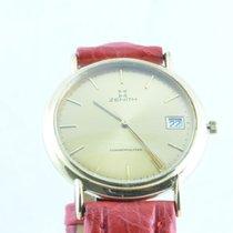 Zenith Herren Uhr 34mm Stahl Vergoldet Vintage Rar