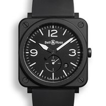 Bell & Ross BR S Quartz Black ceramic NEU mit Box+Papieren