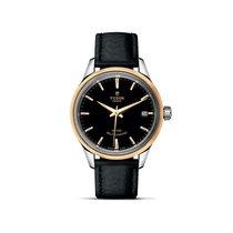 Tudor STYLE Automatic Date Gold Bezel Black 12303