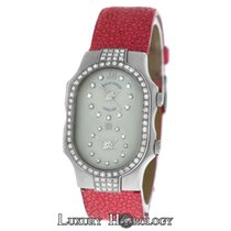 Philip Stein Teslar 2 Time Zone Diamond Bezel & MOP...