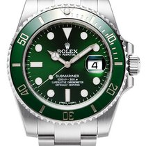 勞力士 (Rolex) Submariner Steel Green Ceramic Bezel Date 116610LV