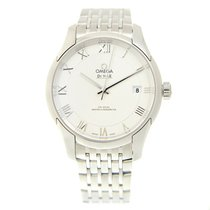 Omega De Ville Stainless Steel Silver Automatic 433.10.41.21.0...
