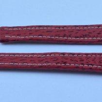 Breitling Hai Leder Armband 19mm  19-16 Für Faltschliesse Rot Neu