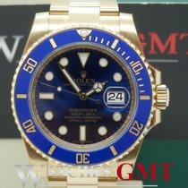 Rolex Submariner Gold Ceramic Blue 116618 NEW