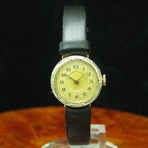 14kt 585 Gold Jugendstil Handaufzug Damenuhr Mit Scharnierdeckel