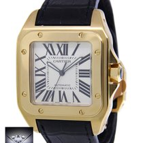 Cartier Santos 100 XL 18k Yellow Gold Mens Watch Box/Papers...