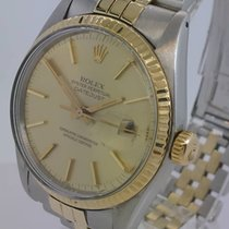 Rolex Oyster Perpetual Datejust Yellow Gold Besel ref 16013